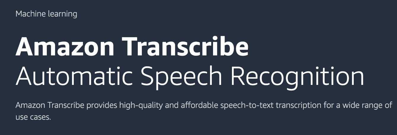 Amazon Transcribe
